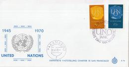 Suriname - FDC E76 - 25 Jaar Verenigde Naties (U.N.O.) - NVPH 538 - 539 - Suriname ... - 1975