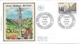 ANDORRE - ENVELOPPE 1er JOUR FDC - N° 204 - CROIX GOTHIQUE De MERITXELL - FDC