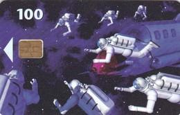 Denmark, D 006J, Astronauts, 2 Scans.  SN : 7202, Chip : DK-5, Exp : 06.99 - Danimarca