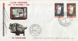 Suriname - FDC E48 - Invoering Van Televisie In Suriname - NVPH 460 - 461 - Suriname ... - 1975