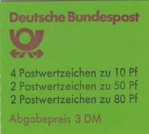 BRD  MARKENHEFTCHEN  MH 24 M VII OZ,mit Plattenfehler 1140 I PF V, Postfrisch **, Sehenswürdigkeiten 1989 - BRD