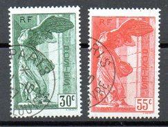 Paire Victoire De Samothrace  N° 354 Et 355 - France