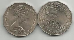 Australia 50 Cents 1970. KM#69 200th Anniversary Of Cook's Australian Voyage - Dezimale Münzen (1966-...)