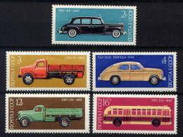 RUSSIE - 4251/4255* - CONSTRUCTION AUTOMOBILE - 1923-1991 URSS