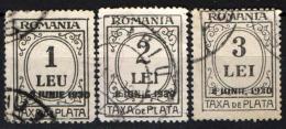 ROMANIA - 1930 - SEGNATASSE CON SOVRASTAMPA - OVERPRINTED - USATI - Impuestos