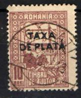 ROMANIA - 1916 - TAXA DE PLATA - USATO - Portomarken