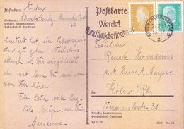 GERMANY, REICH 1931 POST CARD POSTED FROM BERLIN CHARLOTTENBURG 2 WITH SLOGAN CANCELLATION - DOLTFARTE WERDET - Germany