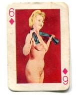 Carte 5,8 Cm X 4cm  : 6 Carreau - Femme Nue - Cartes à Jouer