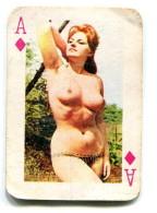Carte 5,8 Cm X 4cm  : As Carreau - Femme Nue - Cartes à Jouer