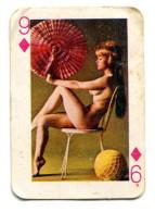 Carte 5,8 Cm X 4cm  : 9 Carreau - Femme Nue - Cartes à Jouer