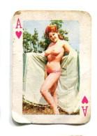 Carte 5,8 Cm X 4cm  : As Coeur - Femme Nue - Cartes à Jouer