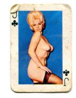 Carte 5,8 Cm X 4cm  : Valet Trèfle - Femme Nue - Cartes à Jouer