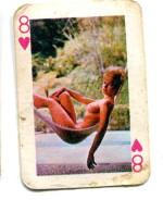 Carte 5,8 Cm X 4cm  : 8 Coeur - Femme Nue - Cartes à Jouer