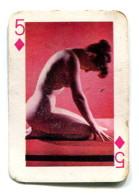 Carte 5,8 Cm X 4cm  : 5 Carreau - Femme Nue - Cartes à Jouer