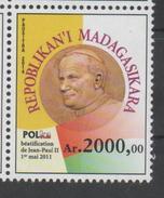 MADAGASCAR, 2014, MNH, POPES, CHRISTIANITY, BEATIFICATION OF POPE JOHN PAUL II, 1v, SCARCE - Popes
