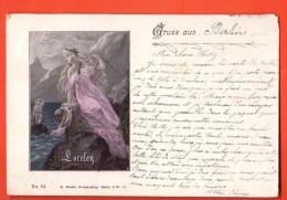 IBL-17  Gruss Aus ...   Lorelen.  Litho Gelaufen In 1899 Nah Roubaix FR. - Gruss Aus.../ Grüsse Aus...