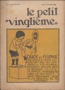 LE PETIT VINGTIEME N° 4 22 JANVIER 1931 TINTIN HERGE 2 P. 2 P. QUICK ET FLUPKE