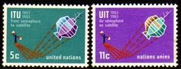 02356 Nações Unidas 137/38 Telecomunicações Satelite Nn - New York -  VN Hauptquartier