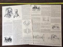 ENV 1900 AUTOMOBILISME MOTEUR PHENIX VOITURE MORS MIGNONNETTE ELECTRIQUE JEANTAUD - Vieux Papiers