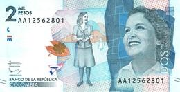 Colombia (BDLR) 2000 Pesos 2015 UNC Cat No. P-458a / CO458a - Colombia