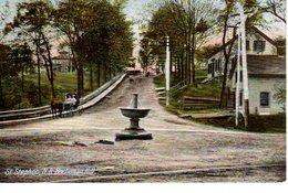 ST. STEPHEN, New Brunswick , Canada,  Fountain And Hores & Buggy On Buchanan Hill, 1907 Leighton Postcard - Nouveau-Brunswick