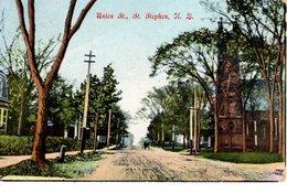 ST. STEPHEN, New Brunswick , Canada,  Union Street & Church, Pre-1920 Fairfield Postcard