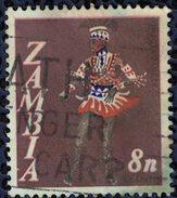 Zambie 1968 Oblitéré Used Danse De La Guérison Vimbuza - Zambie (1965-...)