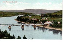 EAST FLORENCEVILLE, New Brunswick , Canada,  Town & Bridge, Pre-1920 Postcard