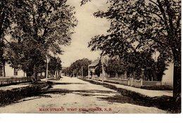 SUSSEX, New Brunswick , Canada, Mian Street, West End, Pre-1920 Postcard