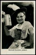 216-GERMANY Deutschland Post Card Bier Fr. Jodlerin Mariandl Auracher Werbung Kostüm-beer Woman Advertising Costume 1939 - Handel