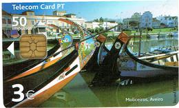 PHONECARDS-- PORTUGAL-CHIP 3€ MOLICEIROS  AVEIRO - Portugal