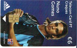 PHONECARDS-- PORTUGAL-CHIP € 6 CRAQUES -- NUNO GOMES - Portugal
