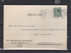 1934 Meelfabriek De Sleutels De Koster & Co Leiden  > Rollend Materieel Oude Gracht 387 Utrecht  (eg28) - Lettres & Documents