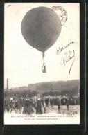 CPA Boulogne-sur-Mer, Ascension Du Ballon Ville De Boulogne, Ballonstart - Boulogne Sur Mer