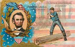 243809-Abraham Lincoln, Nash Lincoln's Birthday Series No 1, The Rail Splitter - Politicians & Soldiers