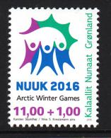 Greenland MNH 2015 11k + 1k 2016 Arctic Winter Games, Nuuk - Groenland