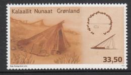 Greenland MNH 2015 33.50k Summer Tent - Traditional Greenlandic Architecture - Groenland