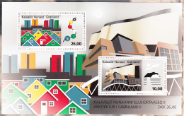 Greenland MNH 2015 Souvenir Sheet Of 2 Modern Greenlandic Architecture - Groenland