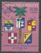 Haiti 1968. Scott #C302 (U) Palm Tree & Provincial Coats Of Arms * - Haïti