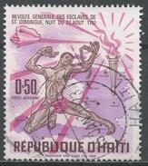 Haiti 1968. Scott #C310 (U) Slave Brealing Chains, Map Of Haiti, Torch And Conch - Haïti