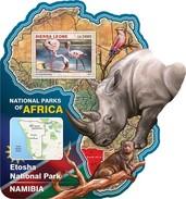 SIERRA LEONE 2016 SHEET NATIONAL PARK NAMIBIA WILDLIFE Srl16516b - Sierra Leone (1961-...)