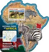 SIERRA LEONE 2016 SHEET NATIONAL PARK KENYA WILDLIFE Srl16519b - Sierra Leone (1961-...)
