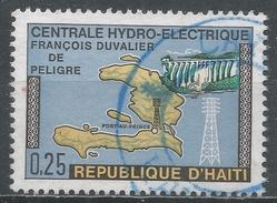 Haiti 1970. Scott #638 Map Of Haiti, Dam And Pylon. Francois Duvalier Central Hydroelectric Plant * - Haïti