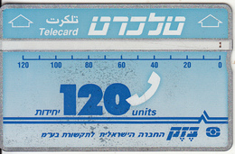 ISRAEL - Bezeq Telecard, Second Definitive Issue 120 Units, CN : 224L, Used
