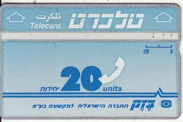 ISRAEL - Bezeq Telecard, Second Definitive Issue 20 Units, CN : 291C, 10/90, Used