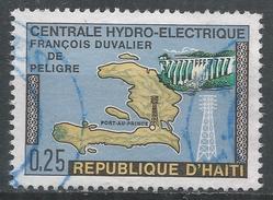 Haiti 1970. Scott #638 Map Of Haiti, Dam And Pylon. Francois Duvalier Central Hydroelectric Plant - Haïti