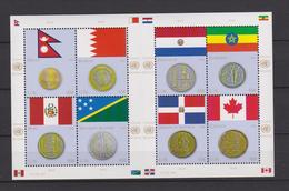 United Nations New York Mi 1294-1301 Flags And Coins Nepal Bahrain Peru Solomon Paraguay Ethiopia Canada 2012 ** - New York – UN Headquarters