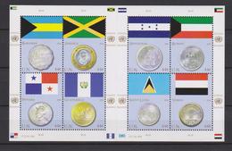 United Nations New York Mi 1177-1184 Flags And Coins Bahamas Jamaica Panama Guatemala Honduras Kuwait Yemen 2010 ** - New York – UN Headquarters
