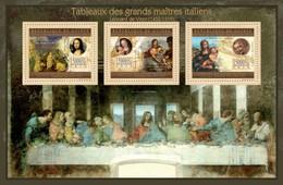 GUINEA 2012 SHEET DA VINCI GREAT ITALIAN MASTERS PAINTINGS ART TABLEAUX GRANDS MAITRES ITALIENS PEINTURES Gu12714a - Guinee (1958-...)