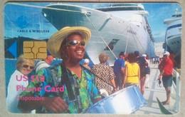 British Virgin Islands Phonecard US$10 Cruise Ship Chip Card - Virgin Islands